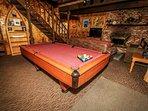 Living Room Pool Table Area