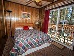 Bedroom 2- Queen Bed, TV, Balcony- 2nd Level