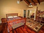 Bedroom 3- queen bed plus twin bunk  (upstairs)