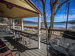 Lake-View Deck With Patio Furnishings