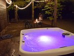 Hot tub & amp; the fire pit