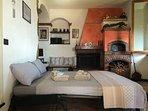 Rosso su Portofino - Divano letto frnacese