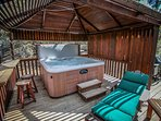 Private Outdoor Spa On Living Room Deck