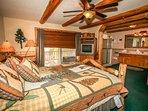 Bedroom 1- Master Suite- Queen bed, Private Bath & Balcony