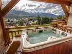 Hot-tub with fantastic views all year around
