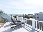 Beautiful 5 bedroom house with great decks and ocean views.