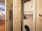Keep your clothes fresh and clean during your entire stay with these convenient in-unit laundry machines.