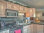 Whip up dinner using stainless steel appliances.