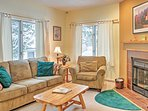 Plenty of comfortable seating for everyone in this charming living room