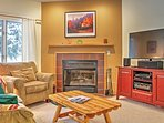 Cozy up by the wood burning fireplace and watch your favorite HBO show on the flat screen TV