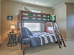 The kids will absolutely love the bunk room!