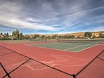Work up a sweat on the tennis courts.
