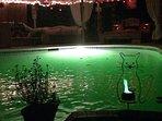 Pool Patio at night