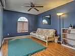 The master bedroom includes an extra room with a futon to accommodate additional guests!