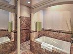 Soak in this spacious tub in the master en suite.