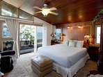 Master bedroom on the water's edge with sounds of waves to send you sleep.