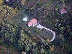 Ariel view of property