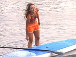 Mom really enjoys the Stand-up Paddleboard!