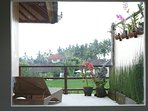 Outdoor orchid garden and private Sun Deck