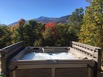 Take in the amazing Fall colors from our luxurious hot tub!