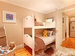 Maple Cottage second bedroom has bunks for the kids