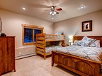 Lower Level Queen Bedroom with Bunks