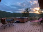 Hot Tub Deck and View