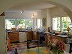 Kitchen comes with dishwasher, oven, hob, fridge, freezer and coffee machine