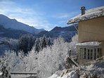 Vue et façade sous la neige (hiver)