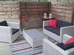 Decking seating area