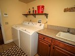 Seperate Laundry Room Available
