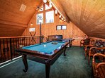 Pool Table In Game Room Loft