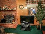 Tree,Fireplace,Hearth,LCD Screen,Screen