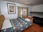 Bedroom 2: Queen Bed Plus Full/Twin Bunk Bed Set- 1st Level