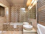 Bathroom with bathtub on the first floor!