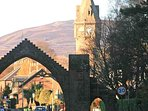 Edzell Arch - the most prominent feature on arrival
