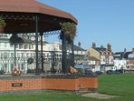 Walmer bandstand with house in background