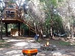 Rec area for the Creek Treehouse