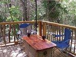 Creek Treehouse balcony