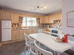 Spacious fully equipped Kitchen - Dishwasher, Electric Cooker, Microwave, Fridge Freezer.