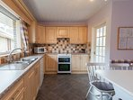 Spacious well equipped kitchen.  Utility just off kitchen with Washing Machine & Tumble Dryer