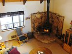 Great Room with Wood Stove