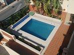 vista en l piscina de la terraza