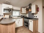 Our fully equipped kitchen has a toaster, kettle and micowave grill