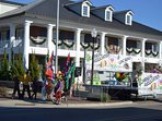 Most events and parades start 2 blocks from Cottage