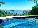 View of the ocean and Manuel Antonio National Park from the pool