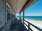 Beachfront Side of House, Covered Porch