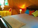 Loft bed room Queen & two singles bed in the loft bedroom