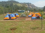 Camping site..  Alpine tents