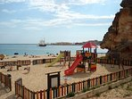 Playground on the Prai Grande beach, 5 minutes walk from the apartment